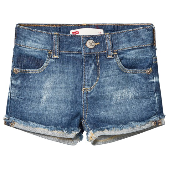 Levis Kids Blue Light Wash Turn Up Denim Shorts 46