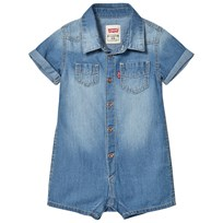 Levis Kids Blue Mid Wash Soft Denim Romper 46