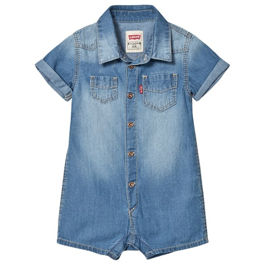 Levis Kids Mid Wash Soft Denim Romper 46