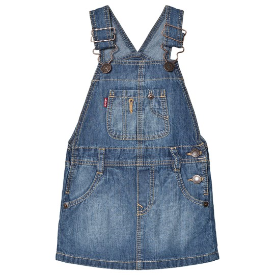 Levis Kids Light Wash Denim Dungarees Dress 46