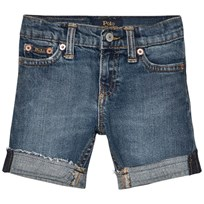 Ralph Lauren Mid Wash Slim Denim Shorts with Turn Up 001