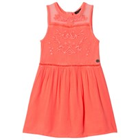 IKKS Fluo Pink Embroidered Sleeveless Dress 33