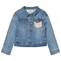 IKKS Mid Wash Studded Denim Jacket with Frill Back 84