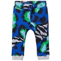 Kenzo Blue Multi Tiger Print Sweatpants 22