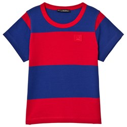 Acne Studios Mini Nedy Tee Ink Blue and Tomato Red