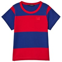Acne Studios Mini Nedy Tee Ink Blue and Tomato Red Ink Blue / Tomato Red