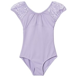 Image of Mirella Gathered Neckline Leotard Lilac 4-6 years (3009898191)