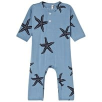 Emma och Malena Starfish One-Piece Blue Blue