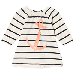 Emma och Malena Stella Anchor Dress Stripe Navy