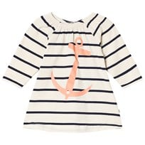 Emma och Malena Stella Anchor Dress Stripe Navy Stripe