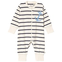 Emma och Malena Anchor One-Piece Stripe Navy Stripe