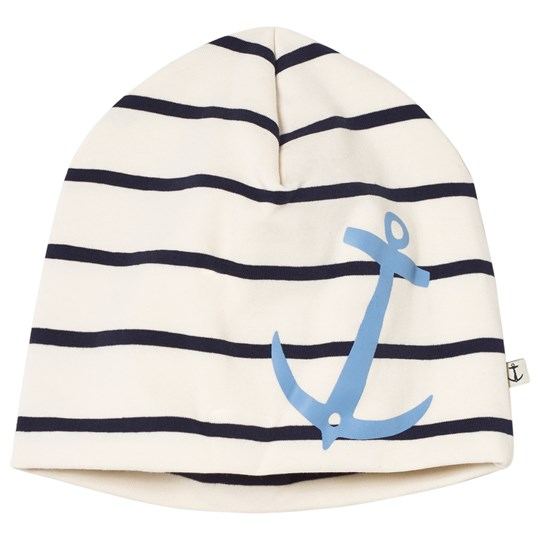 Emma och Malena Anchor Beanie Stripe Blue Stripe