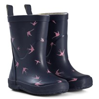 Celavi Navy and Pink Bird Wellies Multi