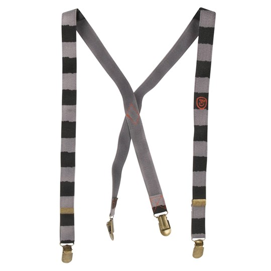 Bobo Choses Braces With Stripes Grey Black
