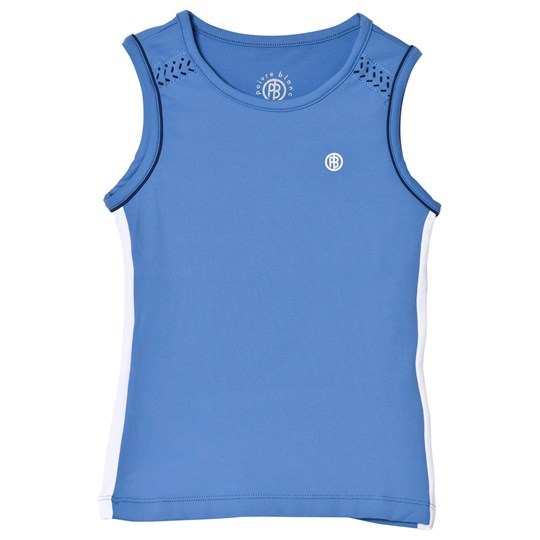 Poivre Blanc Blue with White Side Trim Tennis Tank 0085