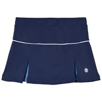 Poivre Blanc Navy with Blue Inverted Pleat Tennis Skort 0090