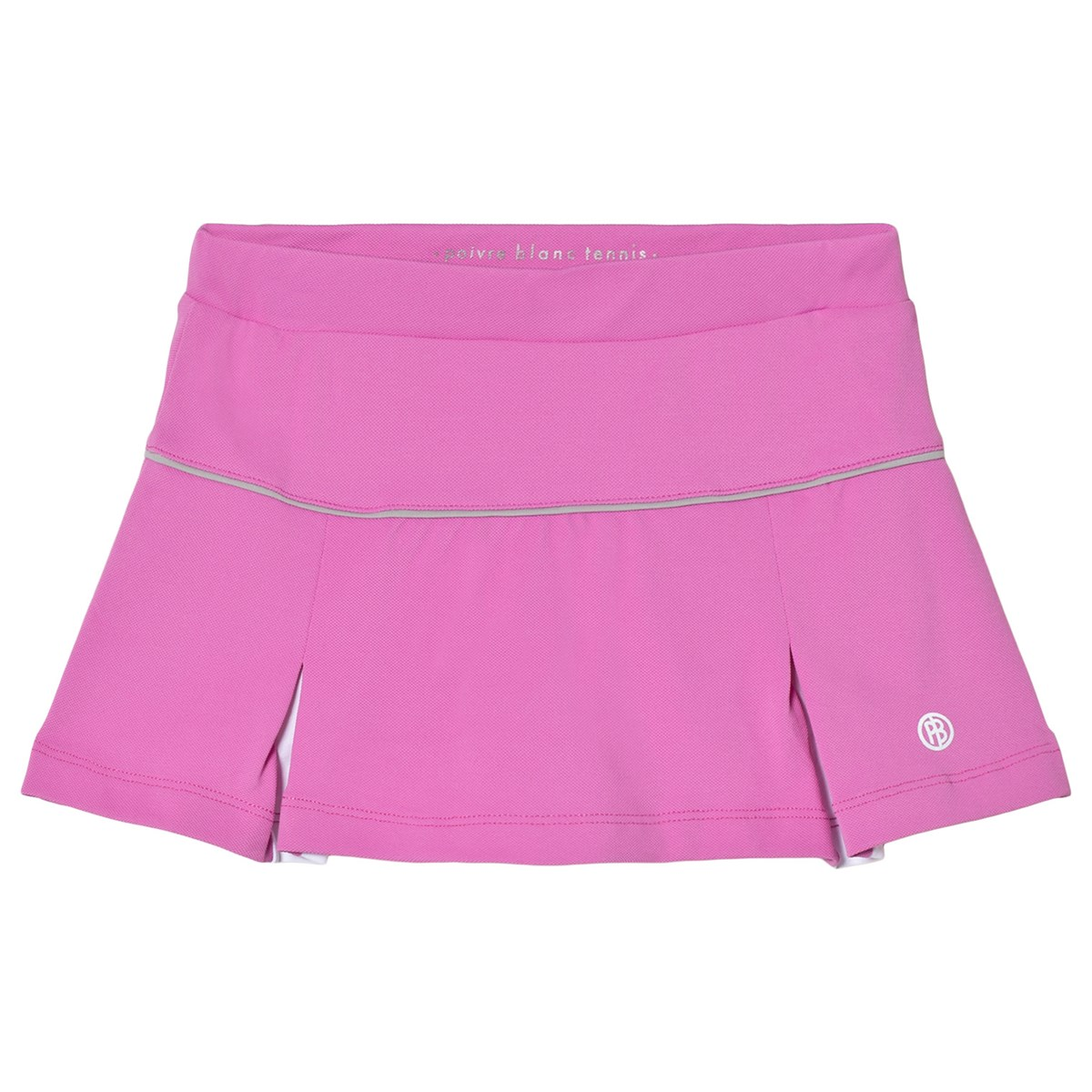 promo code 26d75 81a25 poivre blanc pink with white inverted pleat tennis skort