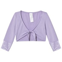 Mirella Lilac 3/4 Sleeve Tie Front Top with Mesh Bands LLC