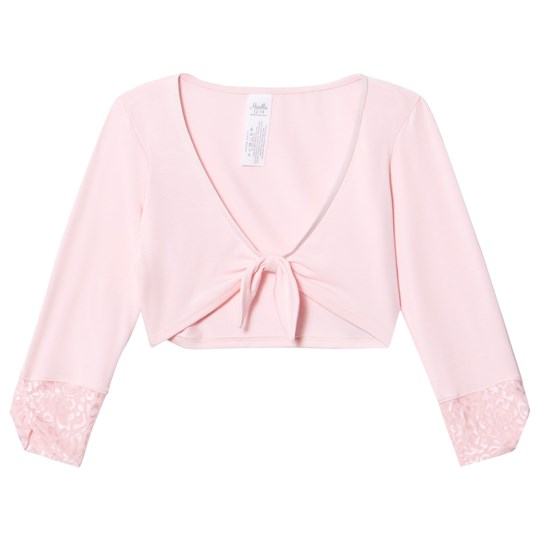 Mirella Pink 3/4 Sleeve Tie Front Top with Felina Mesh Bands PNK