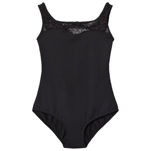 Image of Mirella Mesh Open Bow Back Tank Leotard Black 12 years (3009897777)