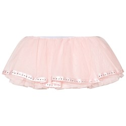Mirella Pink Tutu with Satin Diamante Ribbon Trim Hem