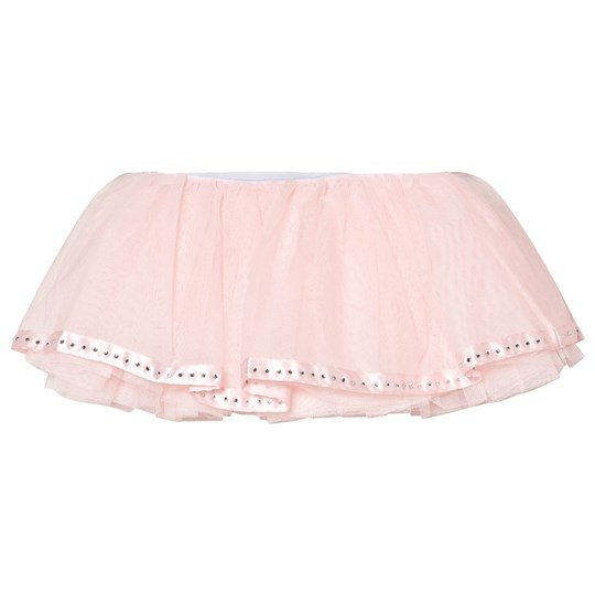 Mirella Pink Tutu with Satin Diamante Ribbon Trim Hem PNK