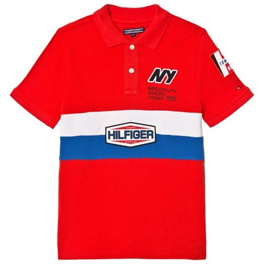 Tommy Hilfiger Red Team Tommy Badge Pique Polo 610