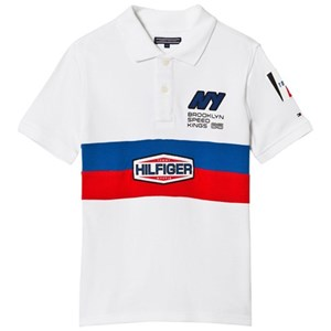Image of Tommy Hilfiger White Team Tommy Badge Pique Polo 10 years (3009900515)