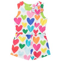 Agatha Ruiz de la Prada Multi Colored Heart Print Playsuit XYZ