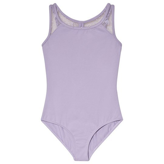 Bloch Lilac Ninette Bow Mesh Back Tank Leotard Lilac