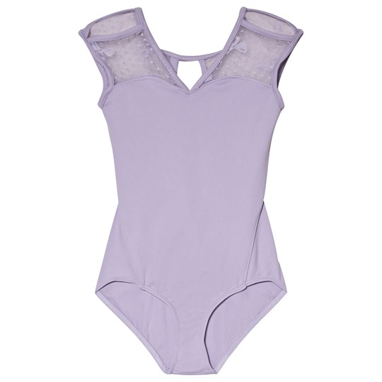 Bloch Lilac Coralie V Neck and Bow Mesh Back Leotard Lilac