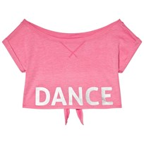 Bloch Hot Pink Crop Tee with Tie Back Pink