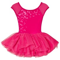 Bloch Hot Pink Abelle Butterfly Print Tutu Leotard Pink