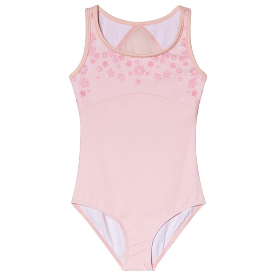 Bloch Pink Cryille Butterfly Print Leotard Pink