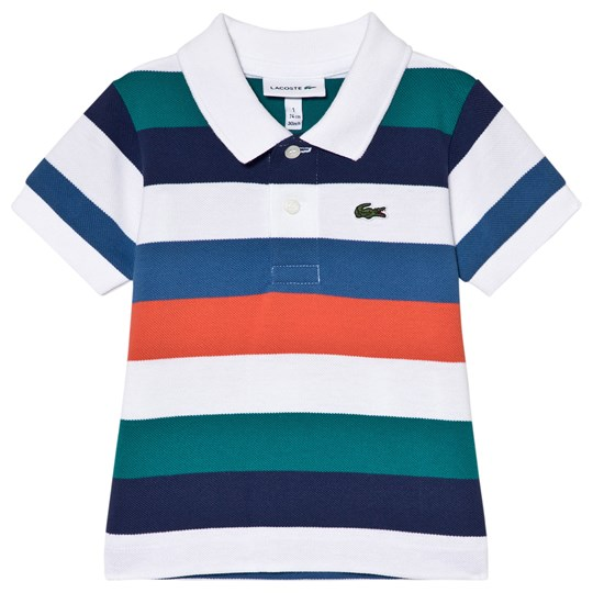 Lacoste Multi Stripe Ribbed Collar Shirt Multi