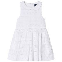 Ralph Lauren White Eyelet Dress with Peter Pan Collar 001