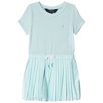 Ralph Lauren Aqua Jersey Pleated Dress 001