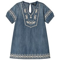Ralph Lauren Blue Denim Embroidered Dress 001