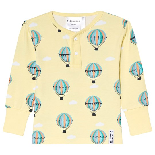 Geggamoja Yellow Balloon Print Bamboo Sweater Baloons