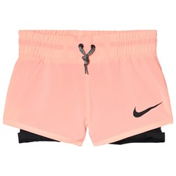 NIKE Orange 2 in 1 Nike Training Shorts