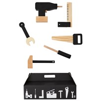 Design Letters Tool School - Wooden Toys Playset 6 pcs Black