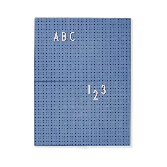 Design Letters Message Board A4 Blue Blue