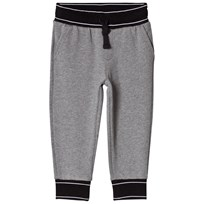 Dolce & Gabbana Gray Marl Sweatpants with Branded Waist S8291