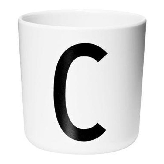 Design Letters Melamine Cup C White