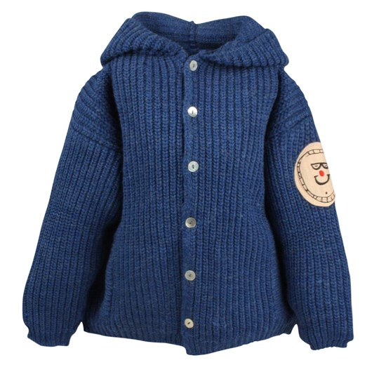 Bobo Choses Knitted Hooded Cardigan Blue Blue