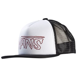Vans Logo Trucker Hat White and Black