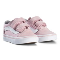 Vans Old Skool Velcro Sneakers Chalk Pink (Suede/Canvas) chalk pink/true white