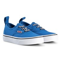 Vans Authentic Check Elastic Check Lace Shoes in Victoria Blue Pure White (Check Lace) victoria blue/true white