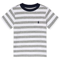 Ralph Lauren Grey Stripe Pocket T-Shirt 001