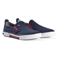 Tommy Hilfiger Navy Branded Slip On Trainers 800